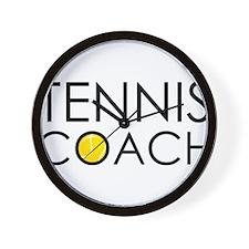 Tennis Coach Wall Clock