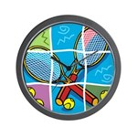 Tennis Puzzle Wall Clock