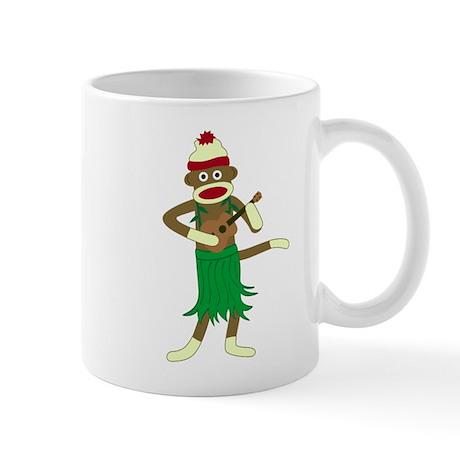 Sock Monkey Ukulele Hula Coffee Mug
