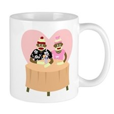 Sock Monkey Boy and Girl Love Coffee Mug