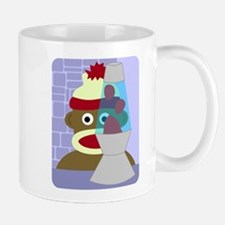 Sock Monkey Retro Lava Lamp Coffee Mug