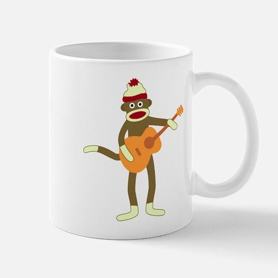 Sock Monkey Acoustic Guitar Coffee Mug