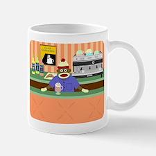 Sock Monkey Coffee Shop Barista Coffee Mug