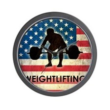 Grunge USA Weightlifting Wall Clock