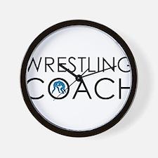 Wrestling Coach Wall Clock