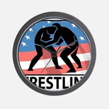 Wrestling In America Wall Clock