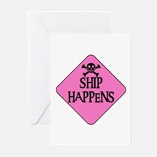 WARNING: SHIP HAPPENS Greeting Cards (Package of