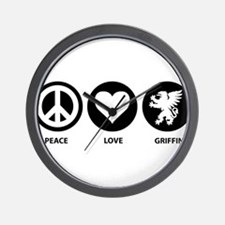 Peace Love Griffin Wall Clock