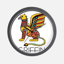 Colorful Griffin Wall Clock