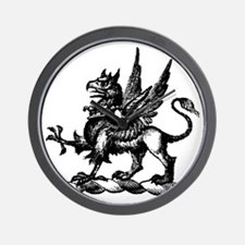 Hand Drawn Griffin Wall Clock