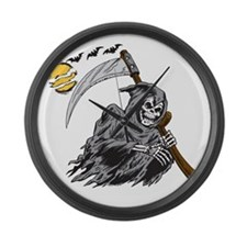 Grim Reaper Large Wall Clock