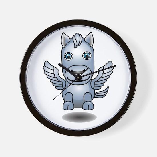 Cute 3D Pegasus Wall Clock