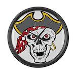 Pirate Skull Large Wall Clock