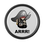 Arr Pirate Large Wall Clock