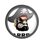 Arr Pirate Wall Clock