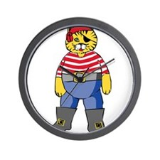 Pirate Kitty Wall Clock
