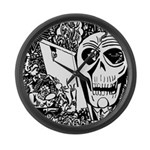 Gothic Skull Art Large Wall Clock