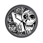 Gothic Skull Art Wall Clock