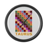 Pop Art Taurus Large Wall Clock