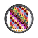 Pop Art Taurus Wall Clock