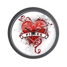 Heart Pisces Wall Clock