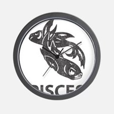 Vintage Pisces Wall Clock