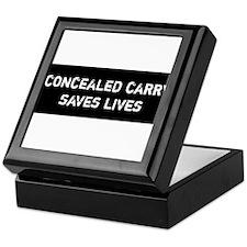 Concealed Carry Saves Lives Keepsake Box
