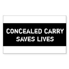 Concealed Carry Saves Lives Decal