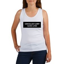 Concealed Carry Saves Lives Women's Tank Top