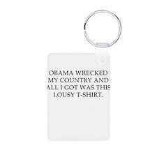 Obama wrecked my country Aluminum Photo Keychain