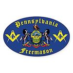 Masonic Pennsylvania Oval Sticker