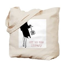 Off to the Library Tote Bag