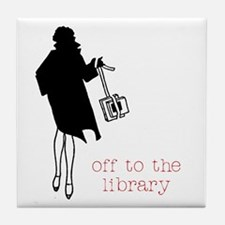 Off to the Library Tile Coaster