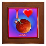 I Love Mars Framed Tile