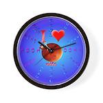 I Love Mars Wall Clock
