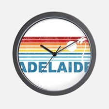 Retro Adelaide Palm Tree Wall Clock