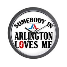 Somebody In Arlington Wall Clock