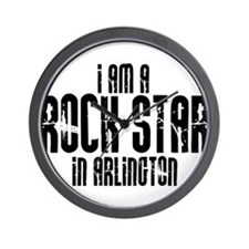 Rock Star In Arlington Wall Clock