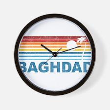 Retro Palm Tree Baghdad Wall Clock