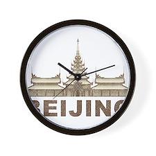 Vintage Beijing Temple Wall Clock