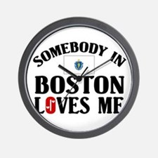 Somebody In Boston Wall Clock