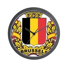 Stylized Brussels Crest Wall Clock