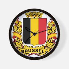 Stylized Brussels Crest Wall Clock