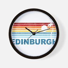 Palm Tree Edinburgh Wall Clock