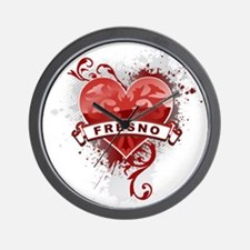 Heart Fresno Wall Clock