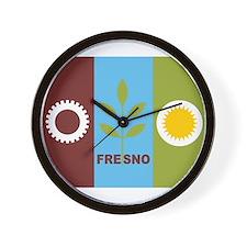Fresno Flag Wall Clock