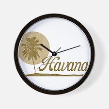 Palm Tree Havana Wall Clock