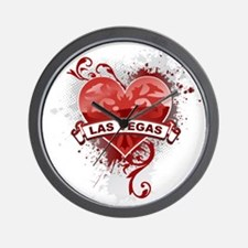 Heart Las Vegas Wall Clock