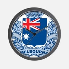 Stylish Melbourne Crest Wall Clock