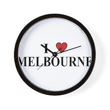 I Love Melbourne Wall Clock